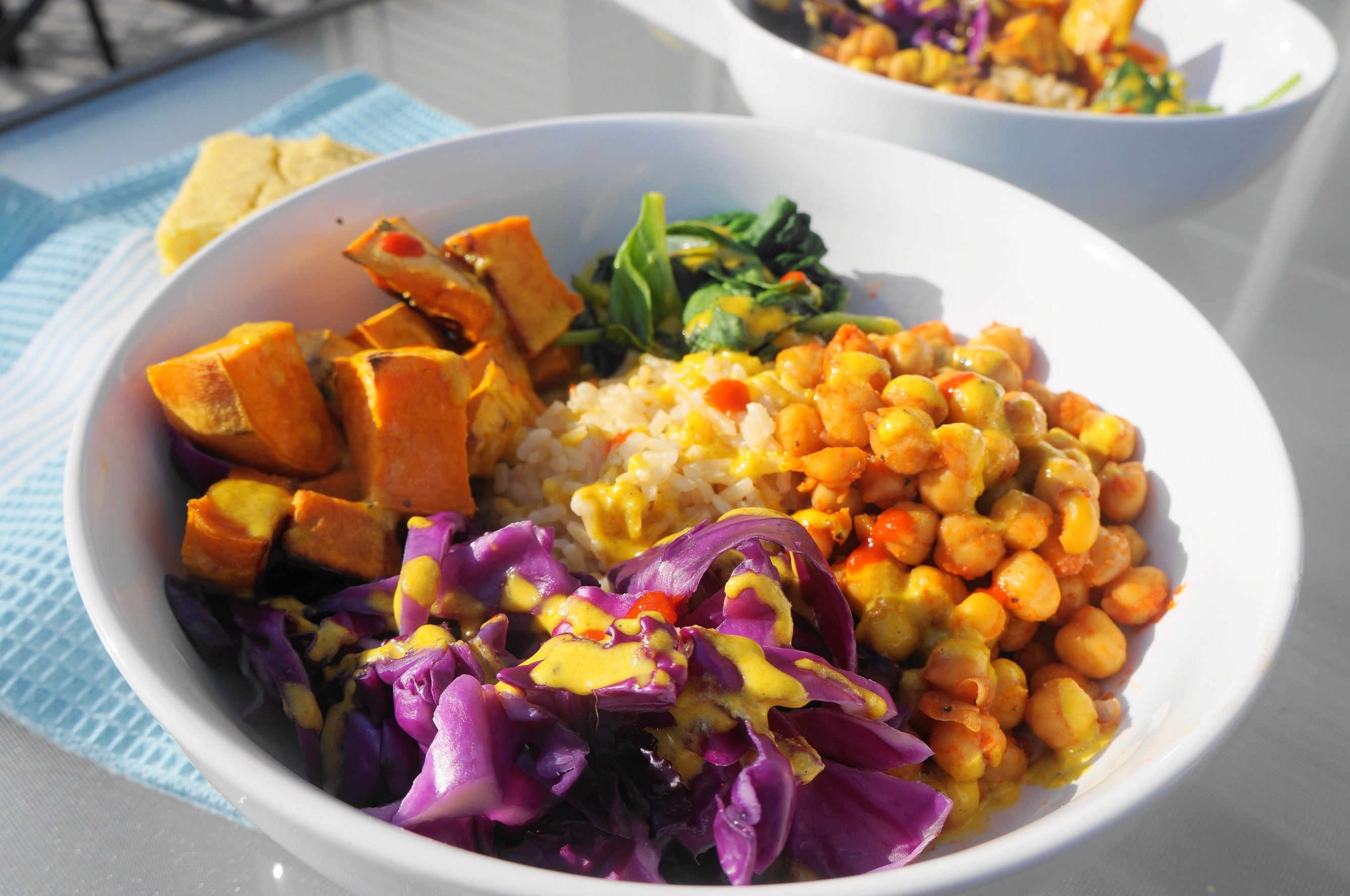 Buddha Bowls with Sweet & Spicy Turmeric Tahini Dressing (V, GF) | Busy Girl Healthy World
