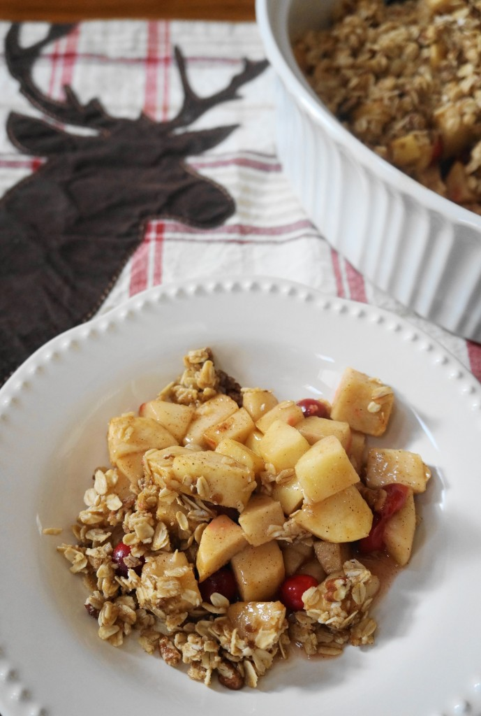 Holiday Apple Crisp (V, GF) | Busy Girl Healthy World