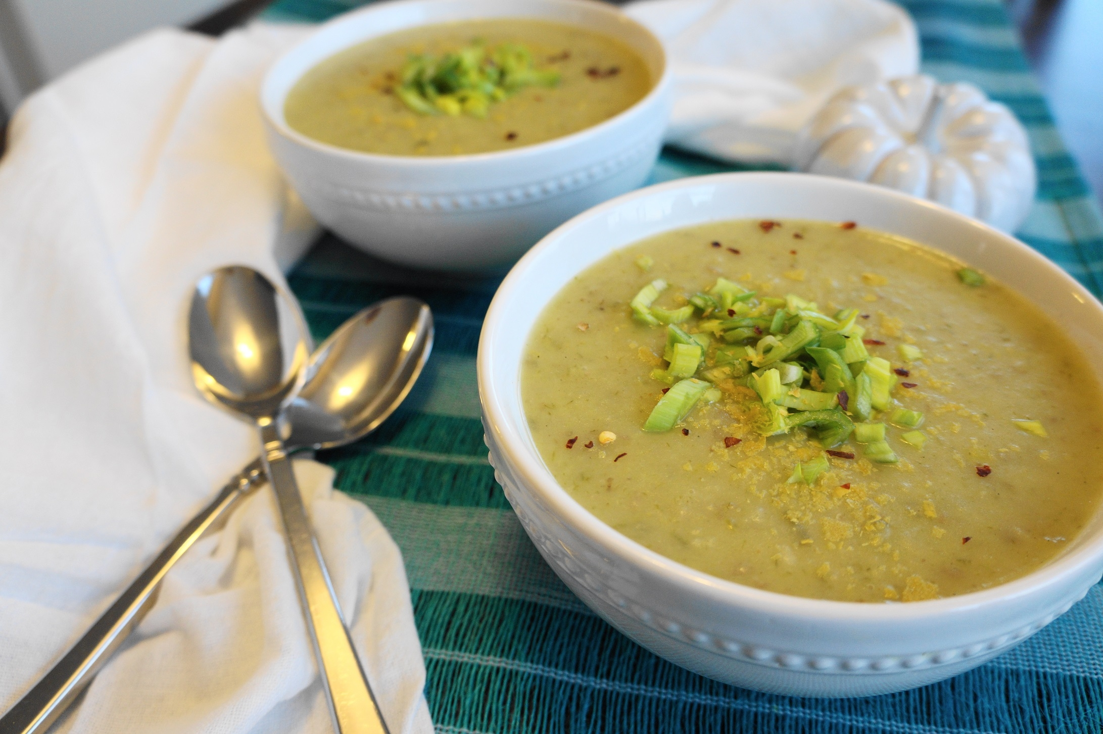 Potato Leek Soup (V, GF) | Busy Girl Healthy World