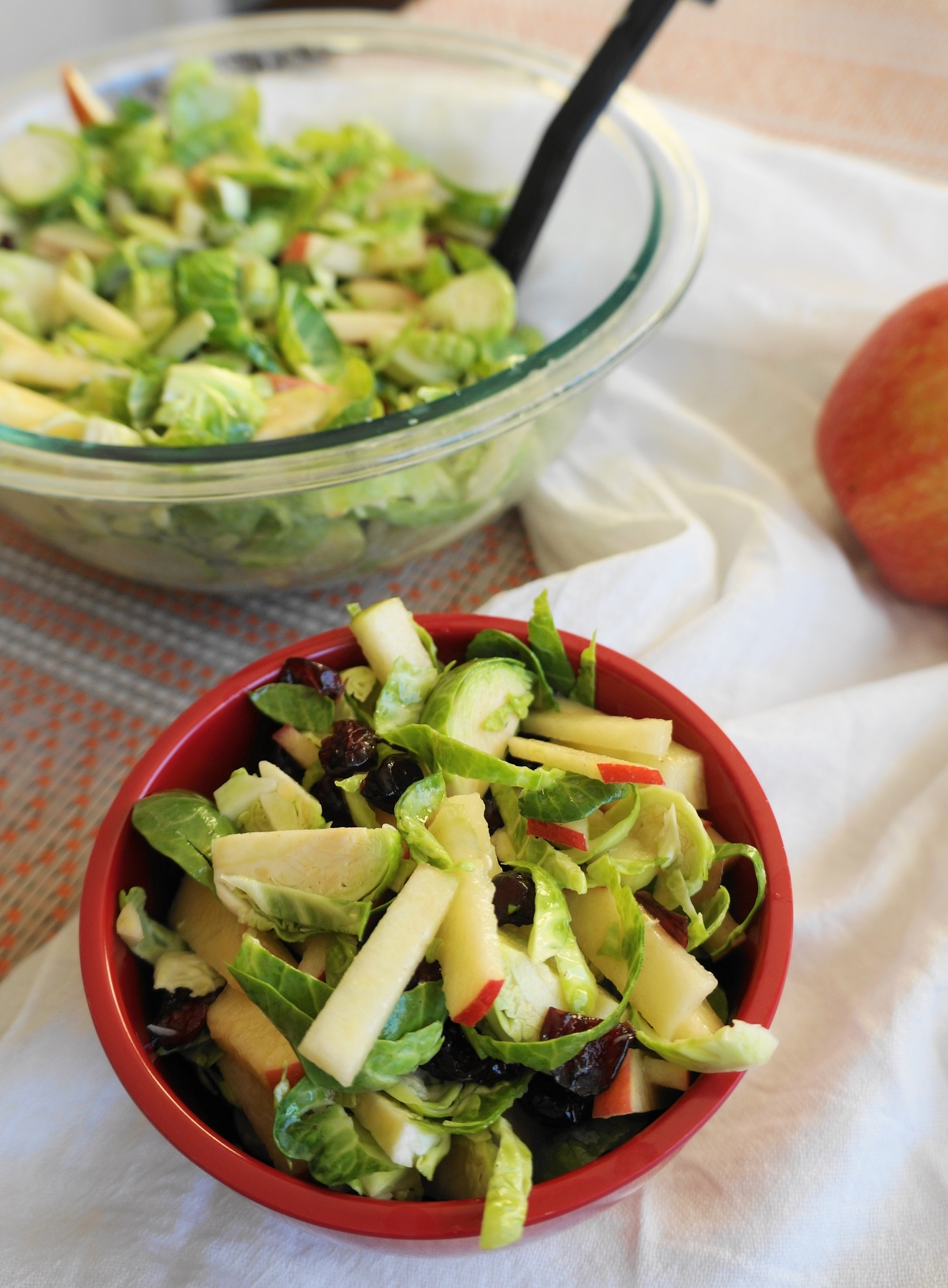Shredded Brussels Sprout & Apple Salad (V, GF) | Busy Girl Healthy World