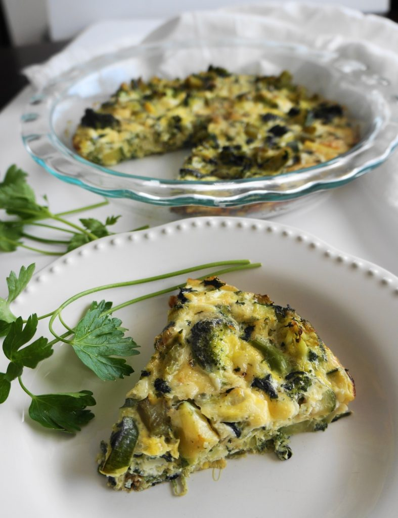 Super Green Vegetable Frittata (GF) | Busy Girl Healthy World