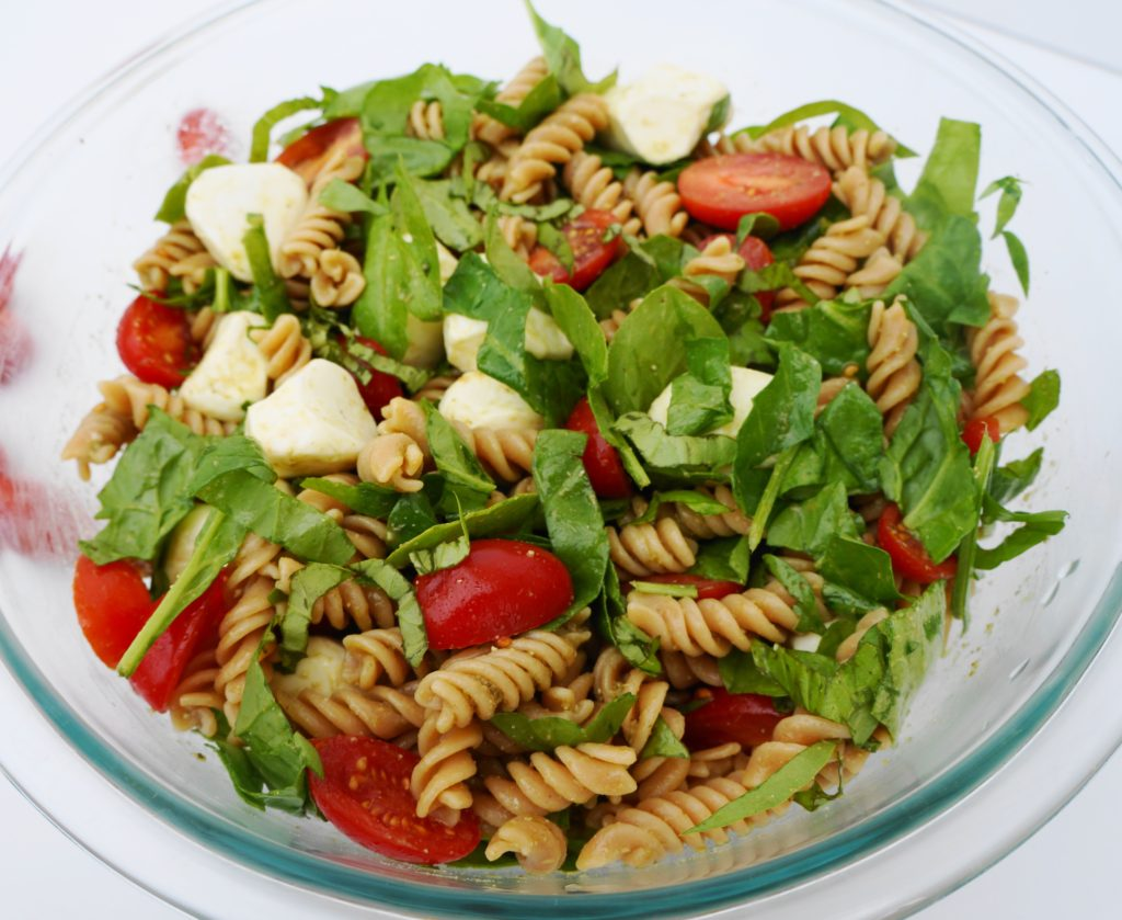 Tomato & Mozzarella Lentil Pasta Salad (GF) | Busy Girl Healthy World