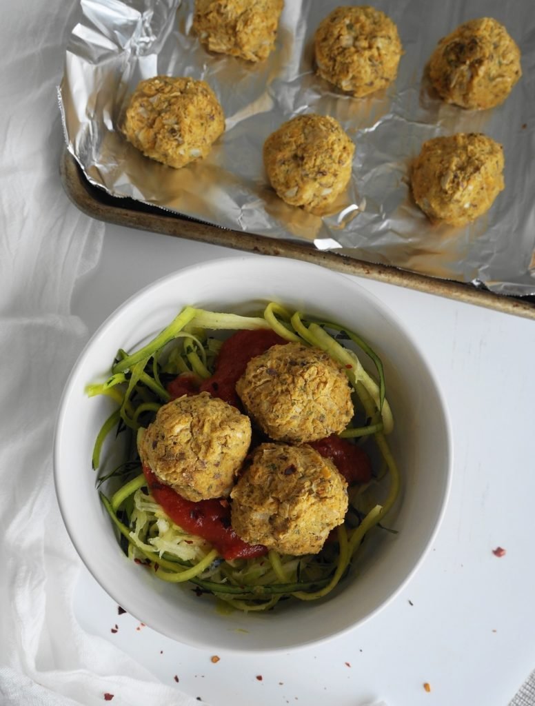 "Vegan Chickpea ""Meatballs"" 