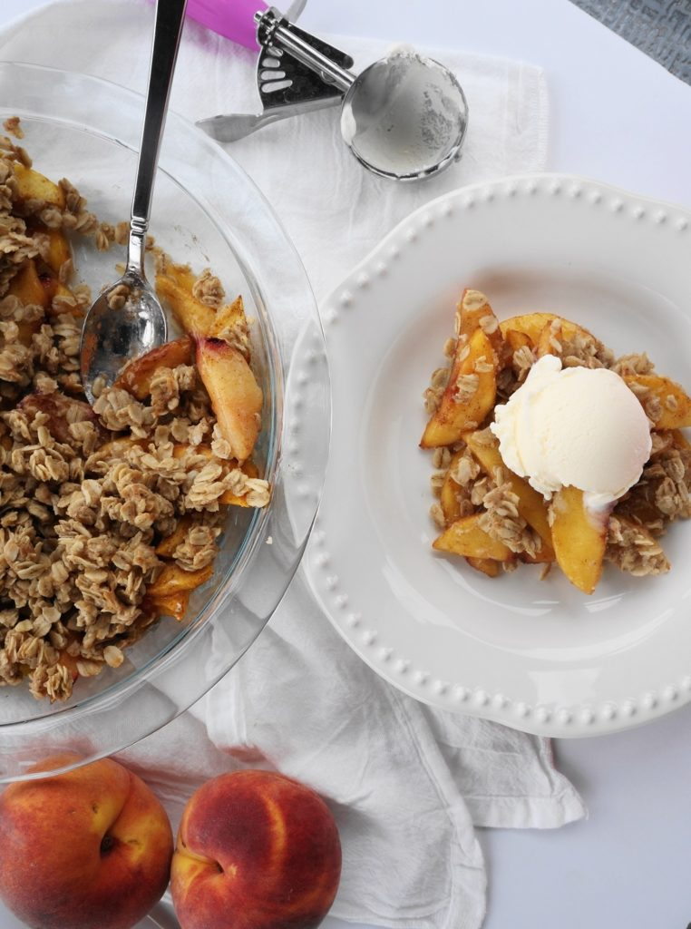 Healthy Stone Fruit Crisp (V, GF, DF) | Busy Girl Healthy World