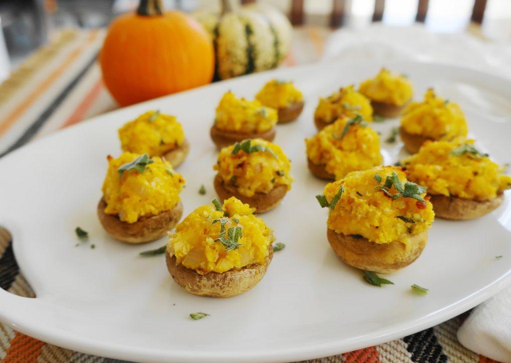 Cheesy Butternut Squash Stuffed Mushrooms | Busy Girl Healthy World