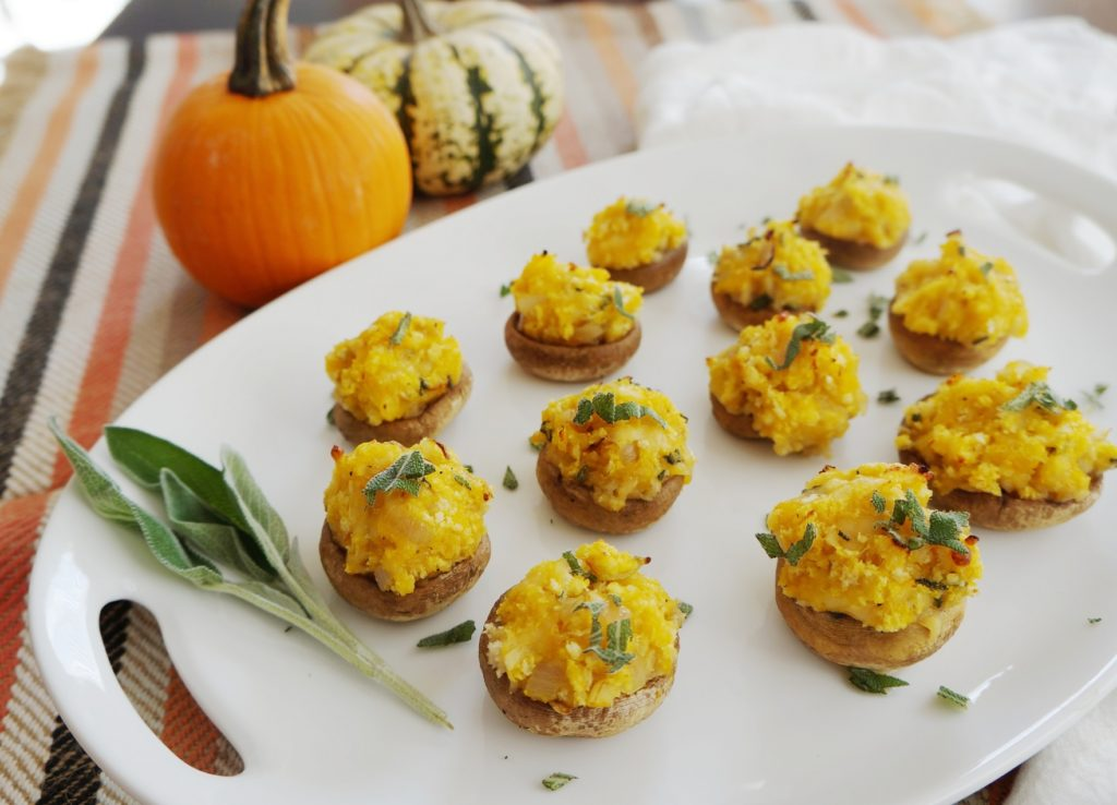 Cheesy Butternut Squash Stuffed Mushrooms | Busy Girl Healthy World